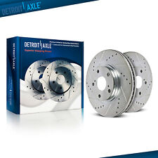 Front Drilled Brake Rotors for 2005 2006 2007 2008 2009 2010 Ford Mustang 4.0L
