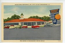 Orange Bowl Restaurant -Rockingham NC- Linen Roadside Diner Restaurant Ad 1940s
