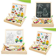 Kids Educational Learning Drawing Wooden Board MagneticJigsaw Puzzle Toys Game