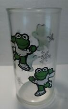 Vintage Muppet Baby Kermit Ice Skating Jelly Glass - 1989