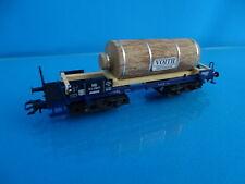 Marklin 48251 Four Axled Flat Car BLUE Märklin Magazine 2002 with real wood load