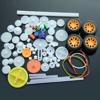 78PCS Plastic Gear Gearbox Toy Robot Motor Rack Pulley Worm Model Standard Parts