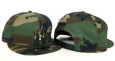 New Era New York Yankees Army Camouflage Gold Metal Logo Snapback hat