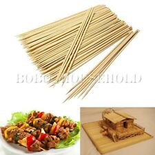 100X Bamboo Wooden BBQ Party Skewers Disposable Sticks Meat Food Long Catering