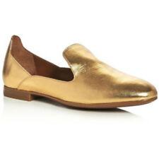 Aquatalia Emmaline Metallic Leather Weatherproof Loafers Size 7 $395 # E5 30 NEW