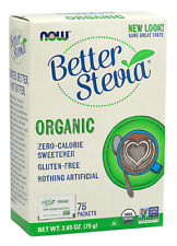 Organic Stevia Packets Now Foods 75 Packet