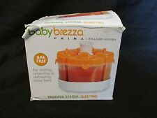 New Baby Brezza Prima for Williams Sonoma Storage System Quattro - Orange
