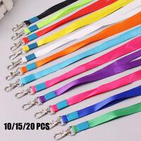 10/15/20pcs Neck Strap Lanyard Safety Breakaway For ID Badge Holder Key Clips