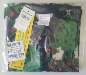 NWT Hanna Andersson Organic Sleeper Pajamas EU 50cm US 0-3 mo FOREST FESTIVITIES