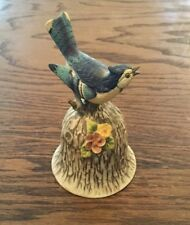 Towle Fine Bone China Blue Jay Bell Figurine