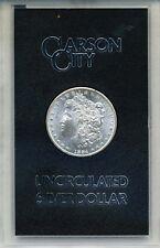 1884-CC MORGAN DOLLAR IN GSA CARSON CITY CUSTOM HOLDER  B.U. GRADE
