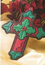 CHRISTMAS CROSS PLASTIC CANVAS PATTERN INSTRUCTIONS