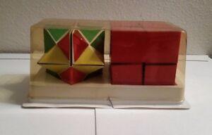 Twin Comet Cube Rare Mysterious Block Yoshimoto Japanese Fidget Puzzle Game VTG