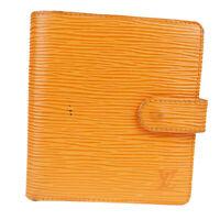Auth Louis Vuitton Porto Vie Compact M6355H Epi Leather Wallet (bi-fold) 08FA580