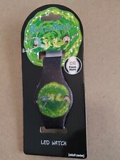 New Rare Rick And Morty Through The Portal Led Wrist Watch Accutime Adult Swim
