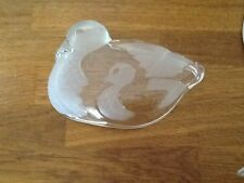 Duck with Duckiling Pressed Glass Sweet Dish / Trinket  Bowl