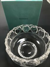 "TIFFANY & CO. CRYSTAL APPLE PATTERN BOWL 5"" DIA. with Box"