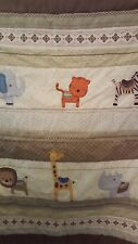 Carter's Zoo Animals Quilted Crib Blanket & Dust Ruffle Set fits Standard Crib
