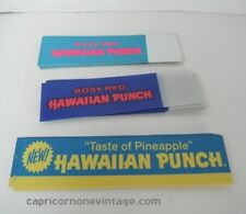VINTAGE 1960s Hawaiian Punch SHELF TALKER supermarket display signs Set of 3