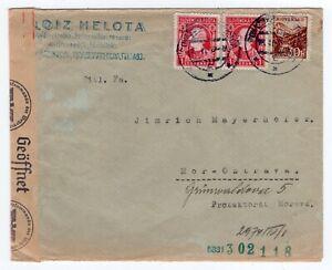 Slovenia 1941 WWII - OKW Germany Censor - Sent to Moravia -