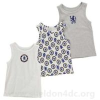 Official Chelsea - Kids Vests - Team 3 Pack Football Childrens  2-3 YRS A342-6