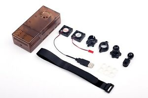 V2 Tinted Case Dual Fans for Stratux ADS-B Kit Fits AHRS Module and GPYes