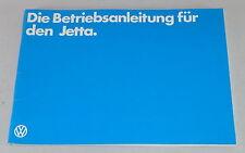 Betriebsanleitung VW Jetta 1/I Stand 01/1981
