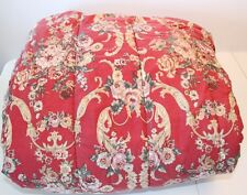 Vintage RALPH LAUREN Red Floral DANIELLE MARSEILLES King COMFORTER