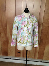 WOMEN'S ALFRED DUNNER PETITES FLORAL JACKET -SIZE: 6P