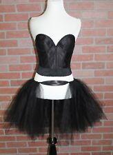 Womens Black Swan Costume Adult Ballerina Halloween Corset + Tutu Size 34B