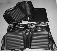 NEW! 1966 Ford Mustang Seat covers Upholstery Buckets Black Coupe full set