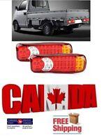 2pcs 46 LED Tail Lights Car Truck Trailer Brake Stop Rear Reverse Turn 12V Pair