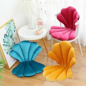 Velvet Shell Chair Cushion Seat Pillow Upscale Restaurant Chair Girly Room Decor