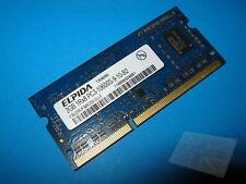 ELPIDA 2 Go EBJ20UF8BCS0-DJ-F PC3-10600S-9-10-B2 DDR3 Ordinateur Portable Mémoire