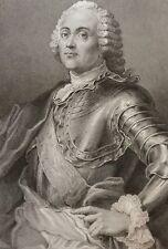 Le Maréchal de Richelieu estampe gravure sur acier XIXe France