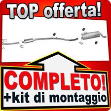 Scarico Completo PEUGEOT 206 CC 1.6 16V AUTOMAT 2000-2005 +Tubo Marmitta T96