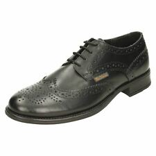 BEN SHERMAN SIMPSON MENS BLACK TAN LEATHER BROGUE LACE UP FORMAL CASUAL SHOES