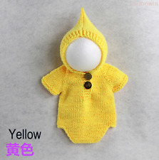 Neugeborene Baby Knit Strick Fotoshooting Fotografie Kostüm Hood Overall