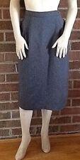 Vintage 1984 Deadstock Levi Strauss & Co Bend Over Skirt Dacron Gray 12
