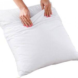 Protège taie d'oreiller blanc Elise 60 cm x 60 cm coton
