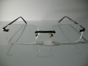 Foster Grant Otis Mens Rimless Brown Modern Reading Glasses