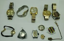 (11) Vintage Men's Watch Lot Kingston New Haven Gruen Bulova Elgin Skagen Swiss