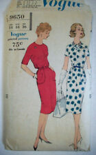 1950's Easy to make Vogue slim dress pattern 9650 size 14