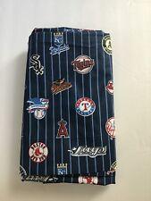 Pottery Barn Teen MLB American Major League Baseball Navy Queen Flat Sheet New