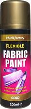 x8 Gold Fabric Spray Paint Leather Vinyl & Much More, Flexible 200ml 5 Colours