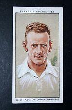Nottinghamshire CCC Keeton vintage Cricketer card Très bon état