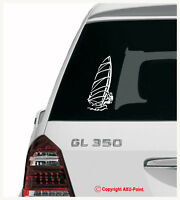 WINDSURFING Mistral JP Starboard HiFly Fanatic - car van sticker 20cmH x 9.5cmW