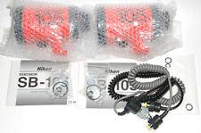2 new Nikon Nikonos SB-105 flashes / strobes with used working double sync cord