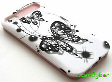 iphone 5 5G Glow in the dark Skin Hybrid Black Dots Butterfly white Cover Case