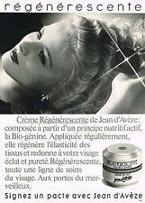 PUBLICITE  1982   JEAN D'AVEZE   cosmétiques  REGENERESCENCE
